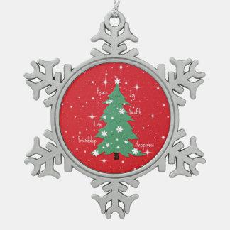 Peace, Joy, Love, Happiness, Friendship Ornaments