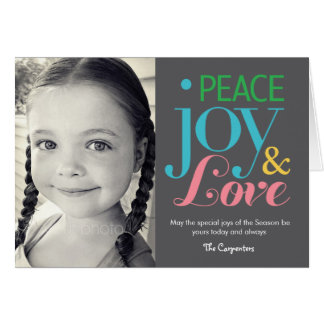 Peace Joy & Love Holiday Photo Card