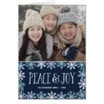Peace & Joy | Modern Folded Holiday Photo Card