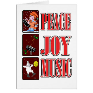Peace Joy Pan Christmas Card