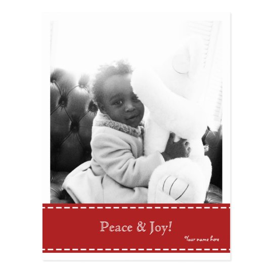 Peace & Joy Photo Postcard