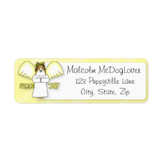 Peace Joy Sheltie Return Address Label