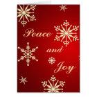 Peace & Joy Snowflake - Christmas Card