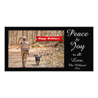 Peace Joy to all fun Holiday Photo Card Template