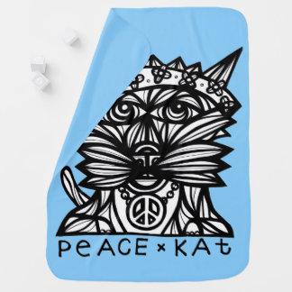 """""""Peace Kat"""" Baby Blanket"""