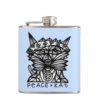 """""""Peace Kat"""" BuddaKats Flask"""