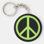 Peace Keychain (Green)