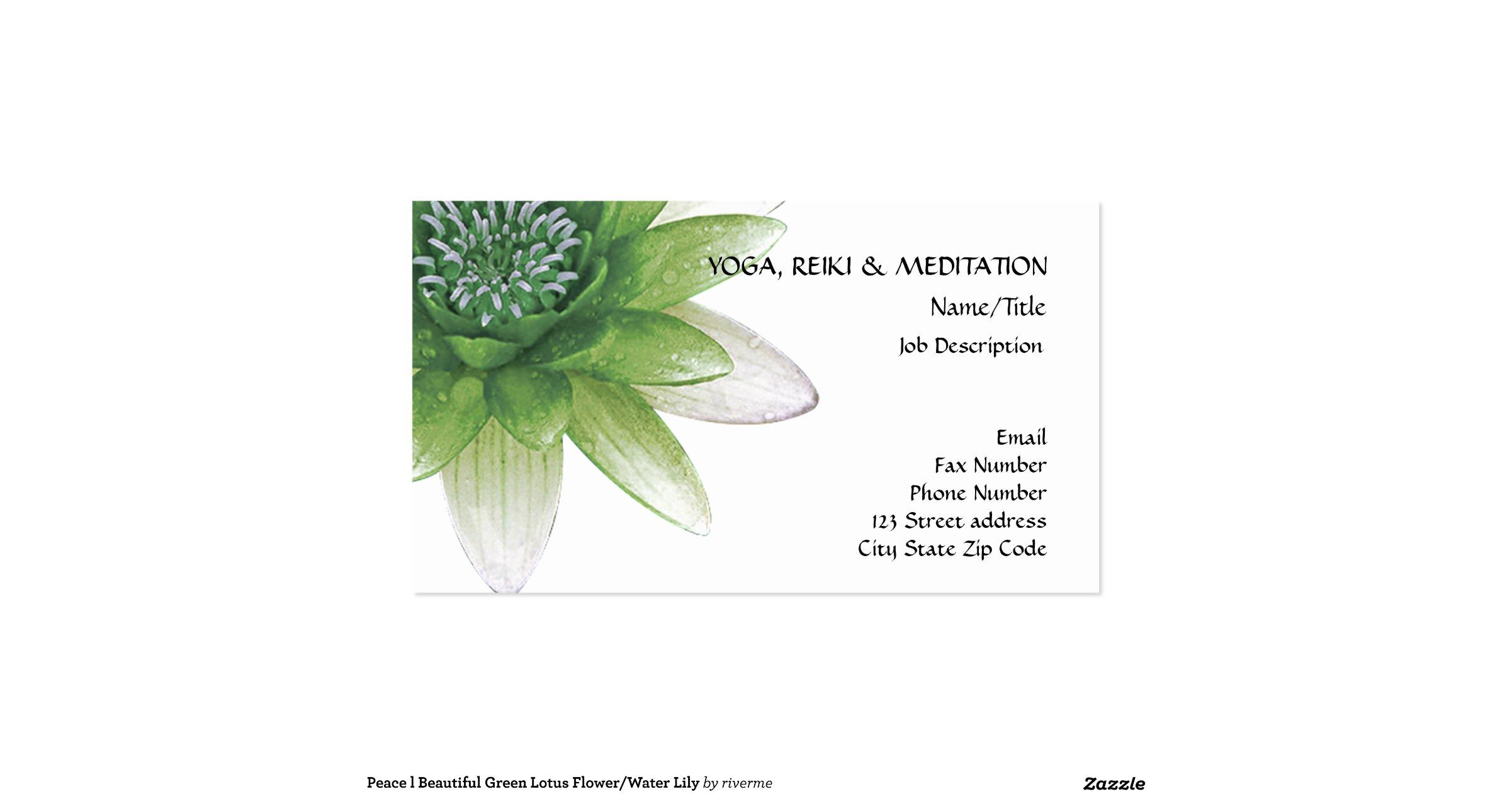 Snap peace l beautiful blue lotus flower business card zazzle photos peace l beautiful green lotus flowerwater lily pack of standard business cards zazzle colourmoves