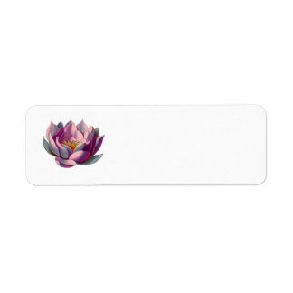 Peace l Beautiful Pink Lotus Flower/Water Lily Return Address Label