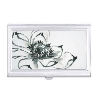 Peace l Beautiful Watercolor Lotus Business Card Holder