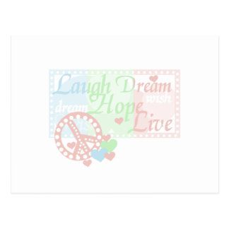 Peace Laugh Dream Hope Live Postcard