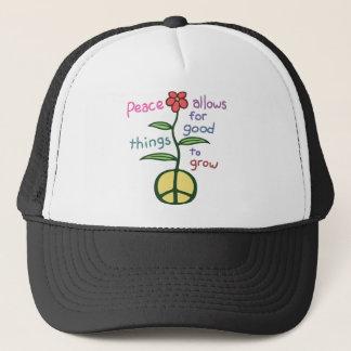 Peace Lets Grow Trucker Hat