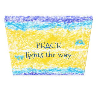 Peace Lights the Way poster Canvas Print