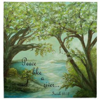 Peace  Like a River Napkin