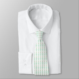 Peace Lily Green and white wedding Tie