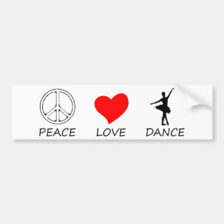 peace love12 bumper sticker