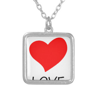 peace love12 silver plated necklace