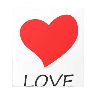 peace love14 notepad