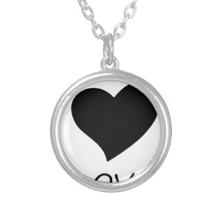 peace love18 silver plated necklace
