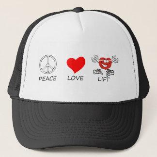 peace love22 trucker hat