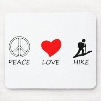 peace love33 mouse pad