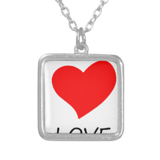 peace love33 silver plated necklace
