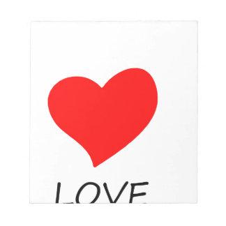peace love35 notepad