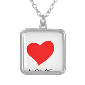 peace love35 silver plated necklace