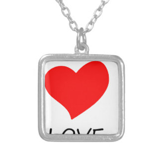peace love36 silver plated necklace