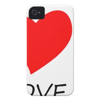 peace love38 iPhone 4 case