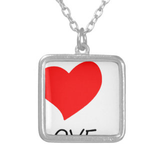 peace love38 silver plated necklace