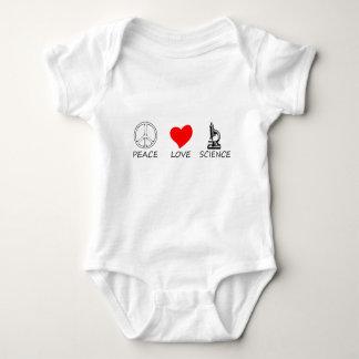 peace love3 baby bodysuit