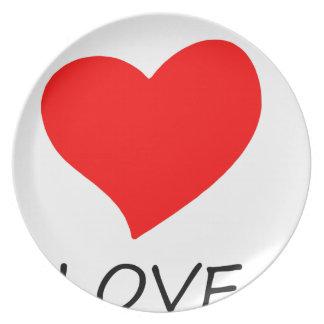 peace love3 plate