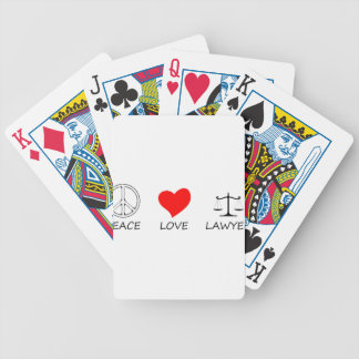peace love40 bicycle playing cards