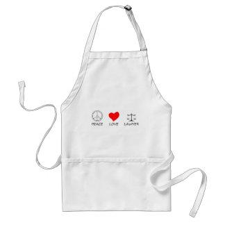 peace love40 standard apron