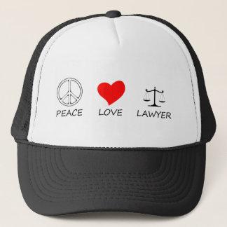peace love40 trucker hat
