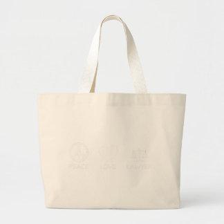 peace love41 large tote bag