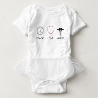 peace love42 baby bodysuit