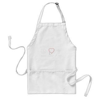 peace love43 standard apron