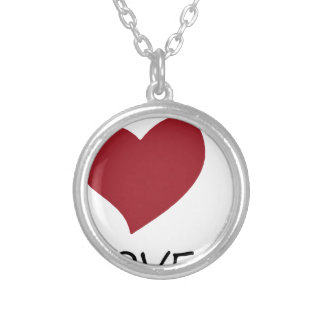 peace love45 silver plated necklace