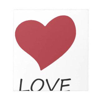 peace love49 notepad