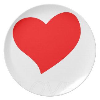 peace love4 plate