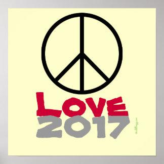 Peace Love 2017 Poster Art Print