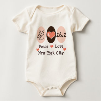 Peace Love  26.2 Baby Bodysuit