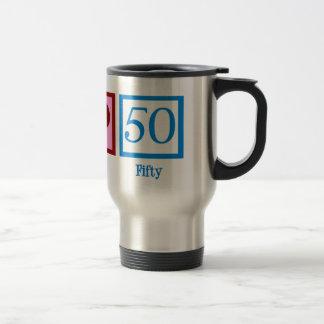 Peace Love 50 Travel Mug
