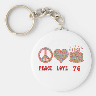 Peace Love 70 Key Ring