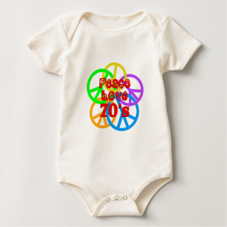 Peace Love 70s Baby Bodysuit