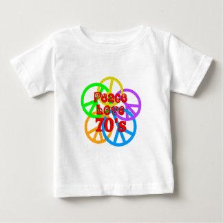 Peace Love 70s Baby T-Shirt