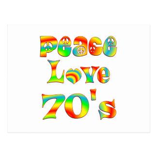 Peace Love 70's Postcard
