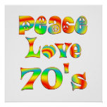 Peace Love 70's Print
